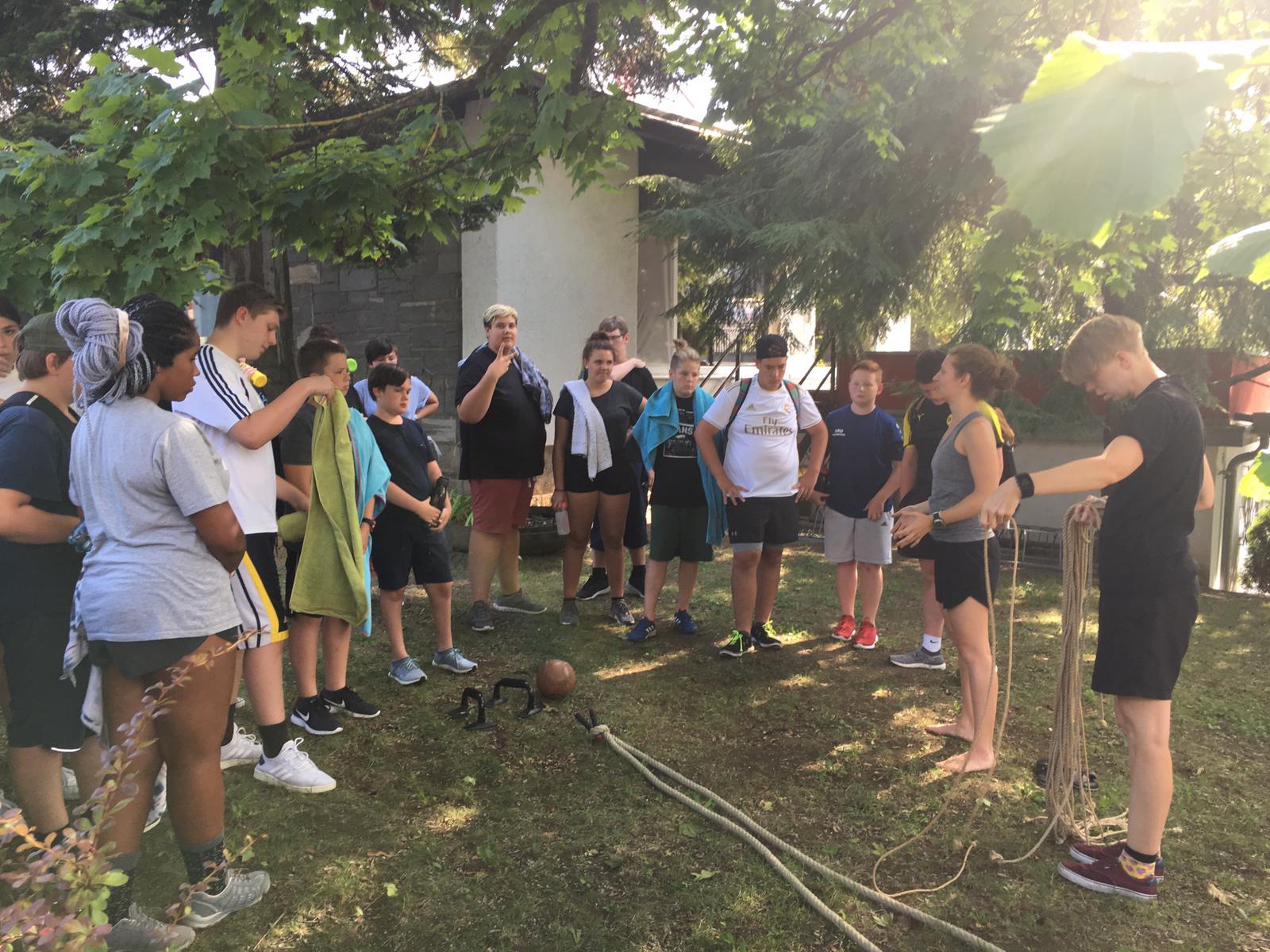 Krafttraining für Kinder beim Hip Teens Abnehmcamp für Jugendliche