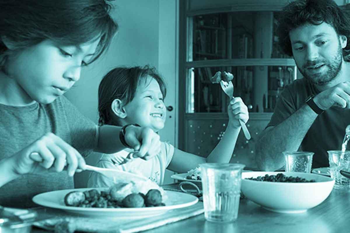 Abnehmen von Kindern in der Familie